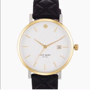 Kate Spade Quilted Black Leather Watch